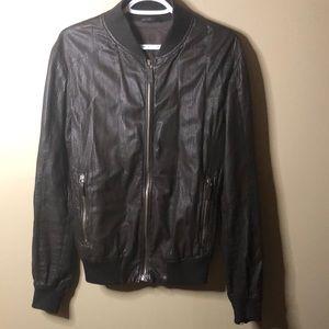 Emporio Armani lambs leather jacket size large